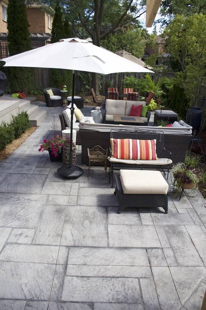 Stamped patio yorkstone